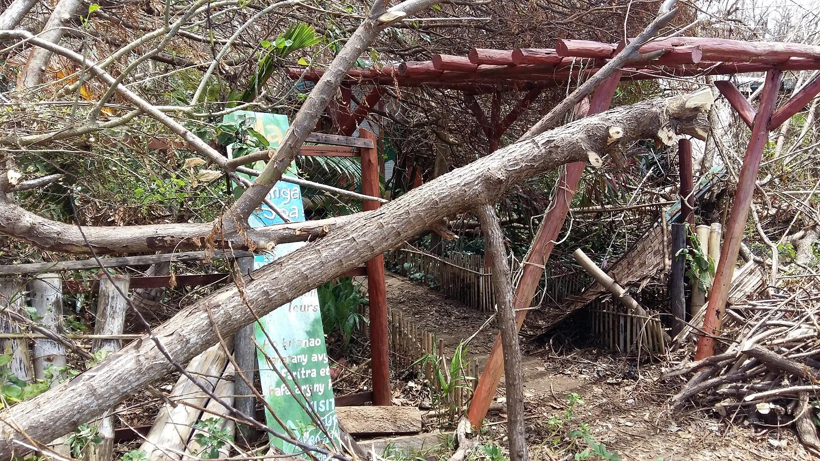 Macolline cyclone damage Madagascar SAVA