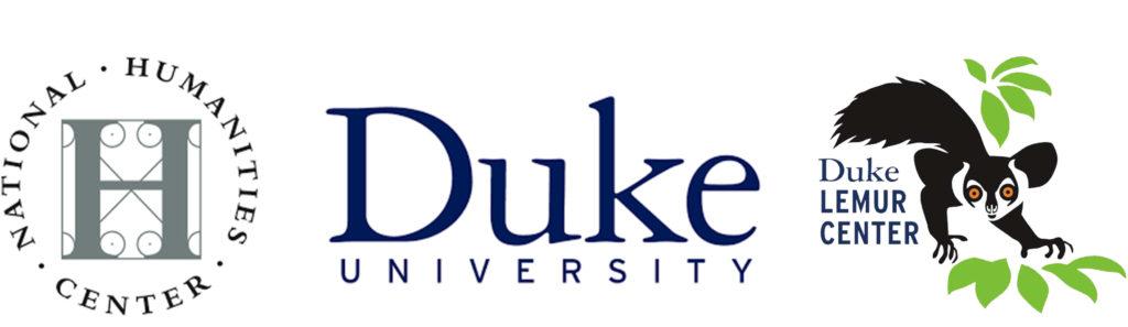 Logos of sponsors - National Humanities Center, Duke University, Duke Lemur Center