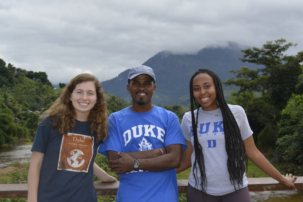 Duke undergrads and Malagasy colleagues wearing Duke t-shirts