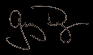 Greg Dye signature