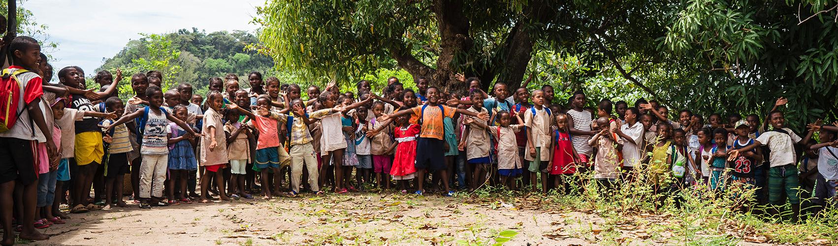 Schoolchildren during a presentation led by DLC-SAVA